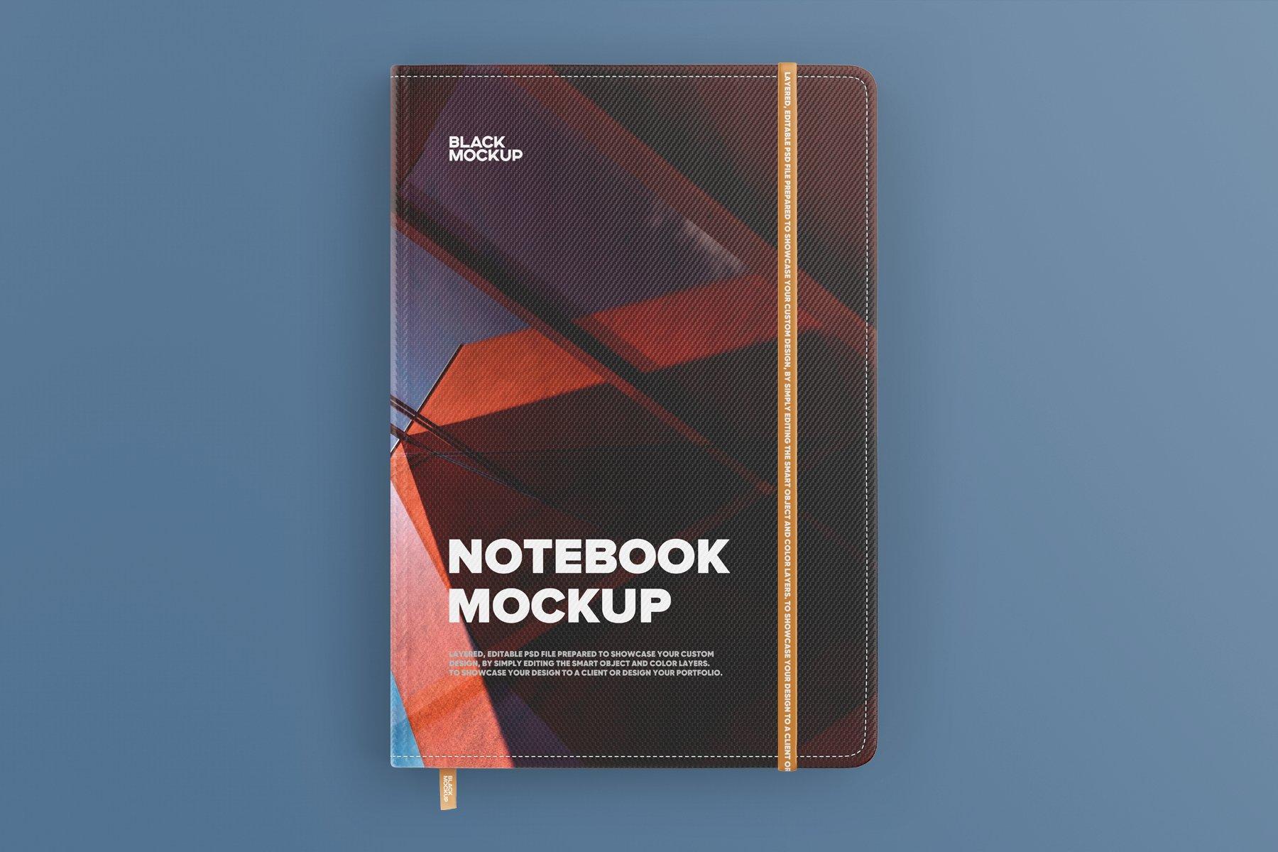 8款办公用品笔记本记事本设计PSD样机模板 Notebook In Craft Packaging Mockup插图6