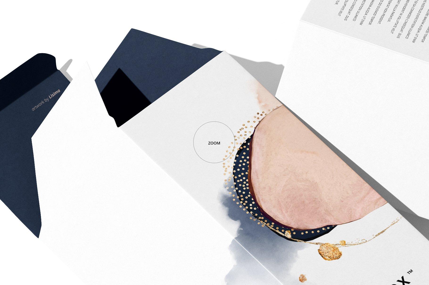 极简方形产品包装纸盒设计PS智能贴图样机合集 Tall Box Mockup Set插图12