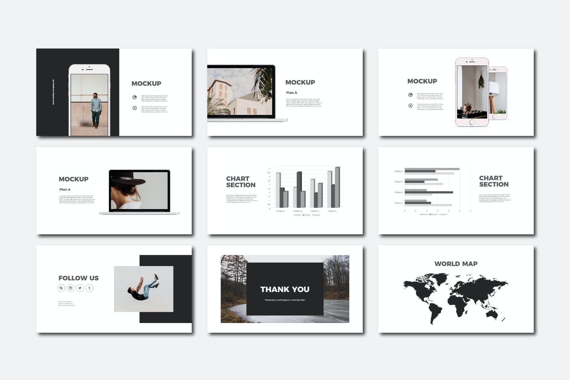 现代商务策划提报演示文稿设计素材模版 Hadley Bundle Presentation插图6