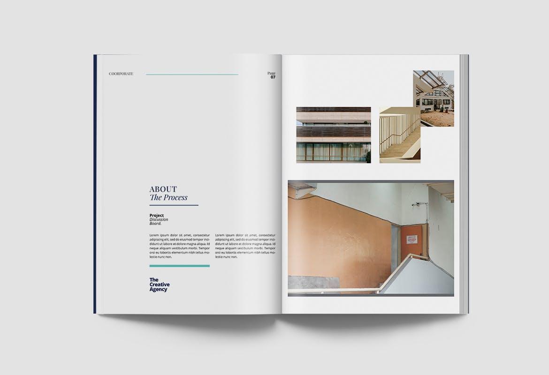 现代优雅企业年度报告书设计INDD画册模板 Corporate Report插图4