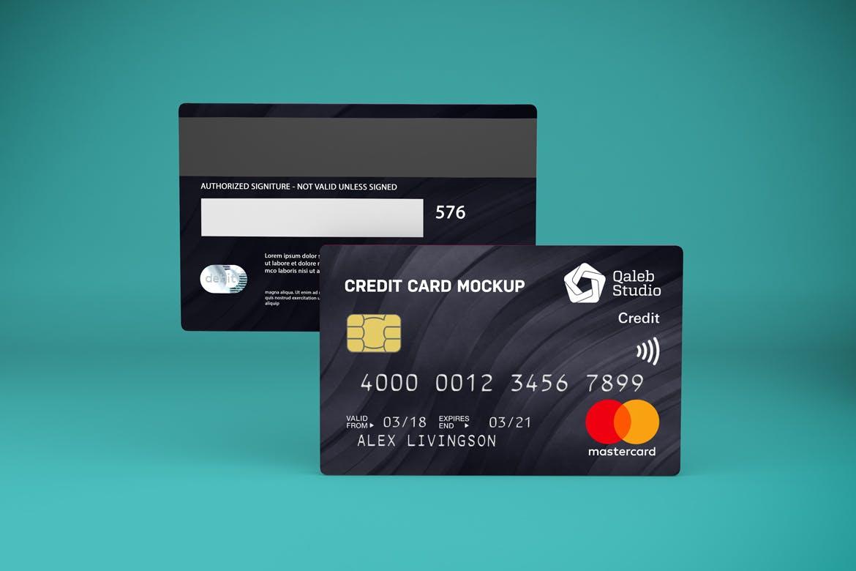 5款逼真银行信用卡卡片设计展示贴图样机素材 Credit Card V.1插图6