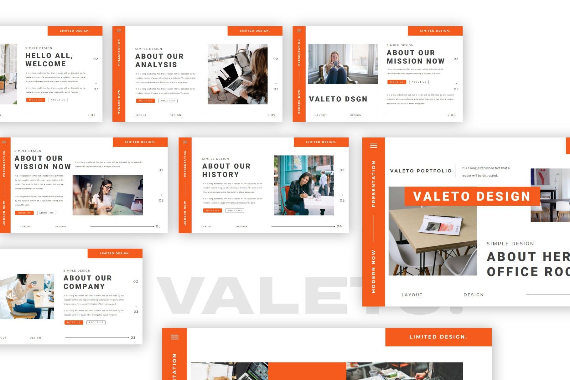 极简主义企业营销策划演示文稿设计模板 Valeto Powerpoint Template插图6