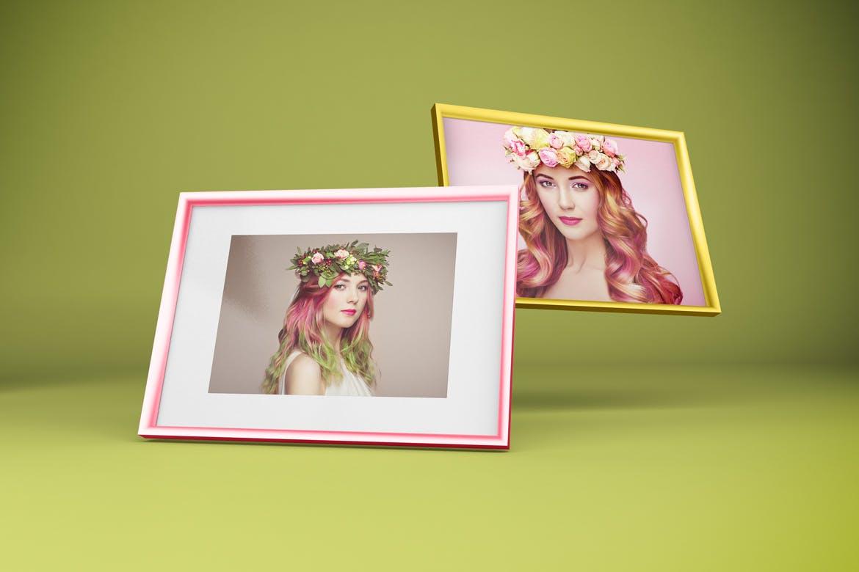多角度艺术品相片展示相框样机模板 Frame Mockup插图6