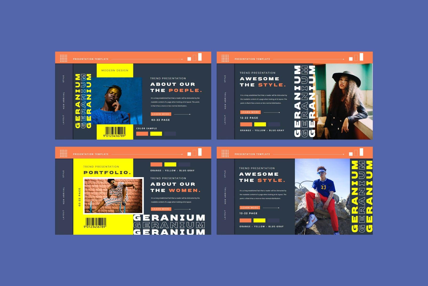 潮流品牌营销提案简报作品集设计模板 GERANIUM Powerpoint Template插图6