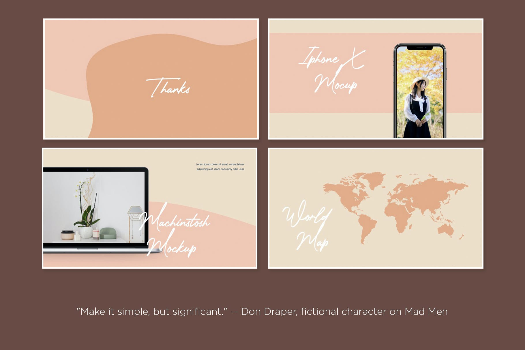 时尚优雅摄影作品集演示幻灯片设计模板 Clarisa Bundle Presentation插图6
