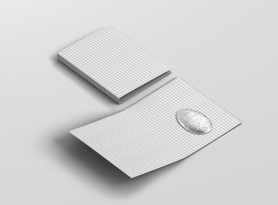 时尚带巧克力文件夹卡片设计样机素材 Easter Folder Card Mockup插图6