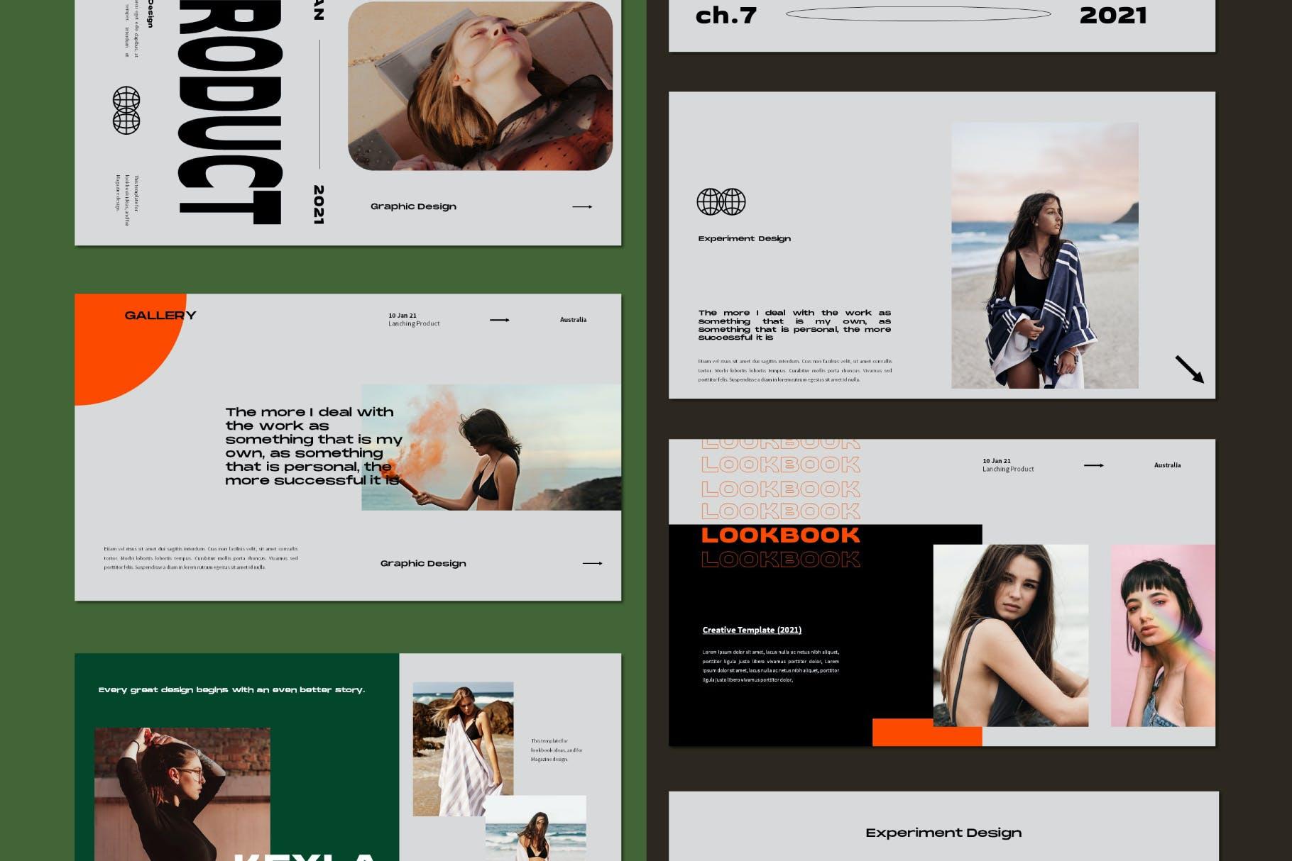 时尚潮流品牌策划案提案简报设计演示文稿模板 Brooke Powerpoint Template插图6