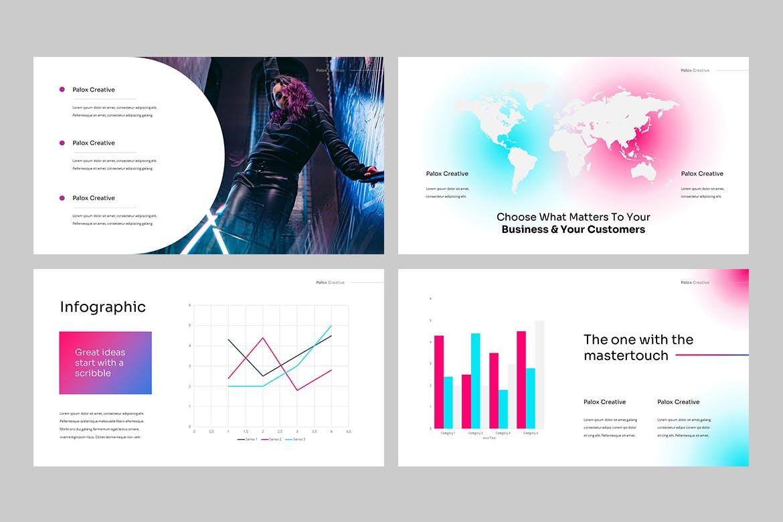 现代炫彩品牌营销策划提报幻灯片设计PPT+Keynote模板素材 PALOX – Creative Agency Powerpoint Template插图6