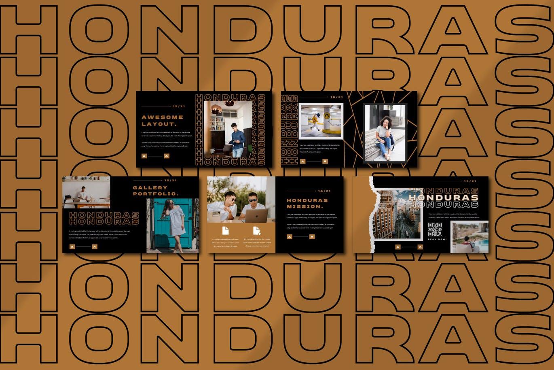 潮流撕纸效果品牌营销设计提案简报演示文稿模板素材 HONDURAS Bundle Presentation Template插图6