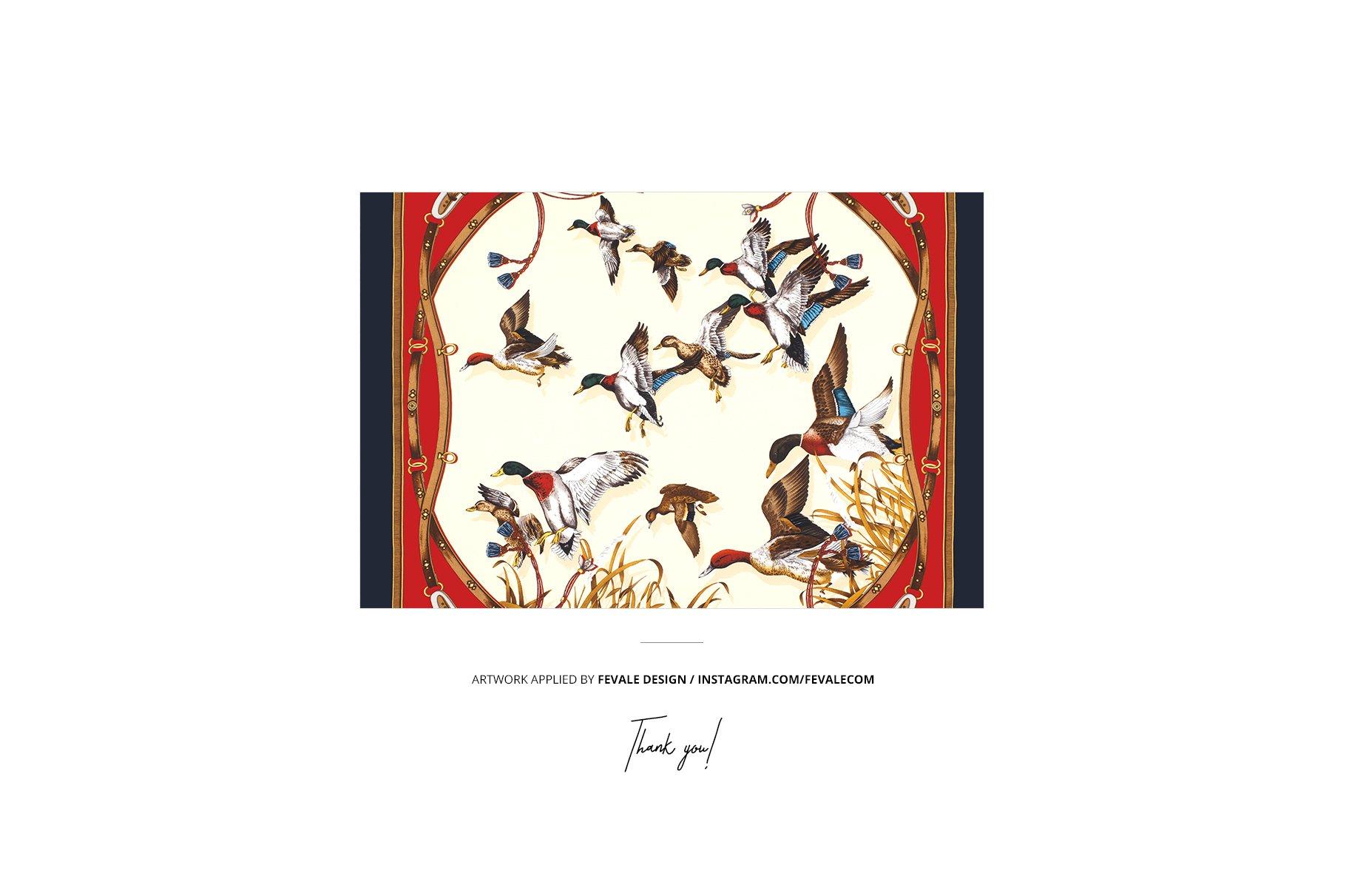 时尚真丝丝绸围巾印花图案设计展示样机 Silk Scarf Box Mockup Set 07/FFv.12插图10