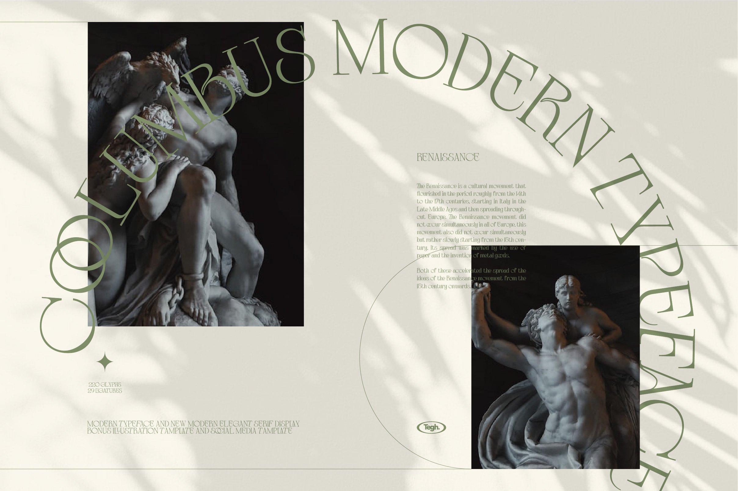 优雅复古杂志海报标题徽标Logo设计衬线英文字体素材 Coolumbus Modern Serif Font插图7