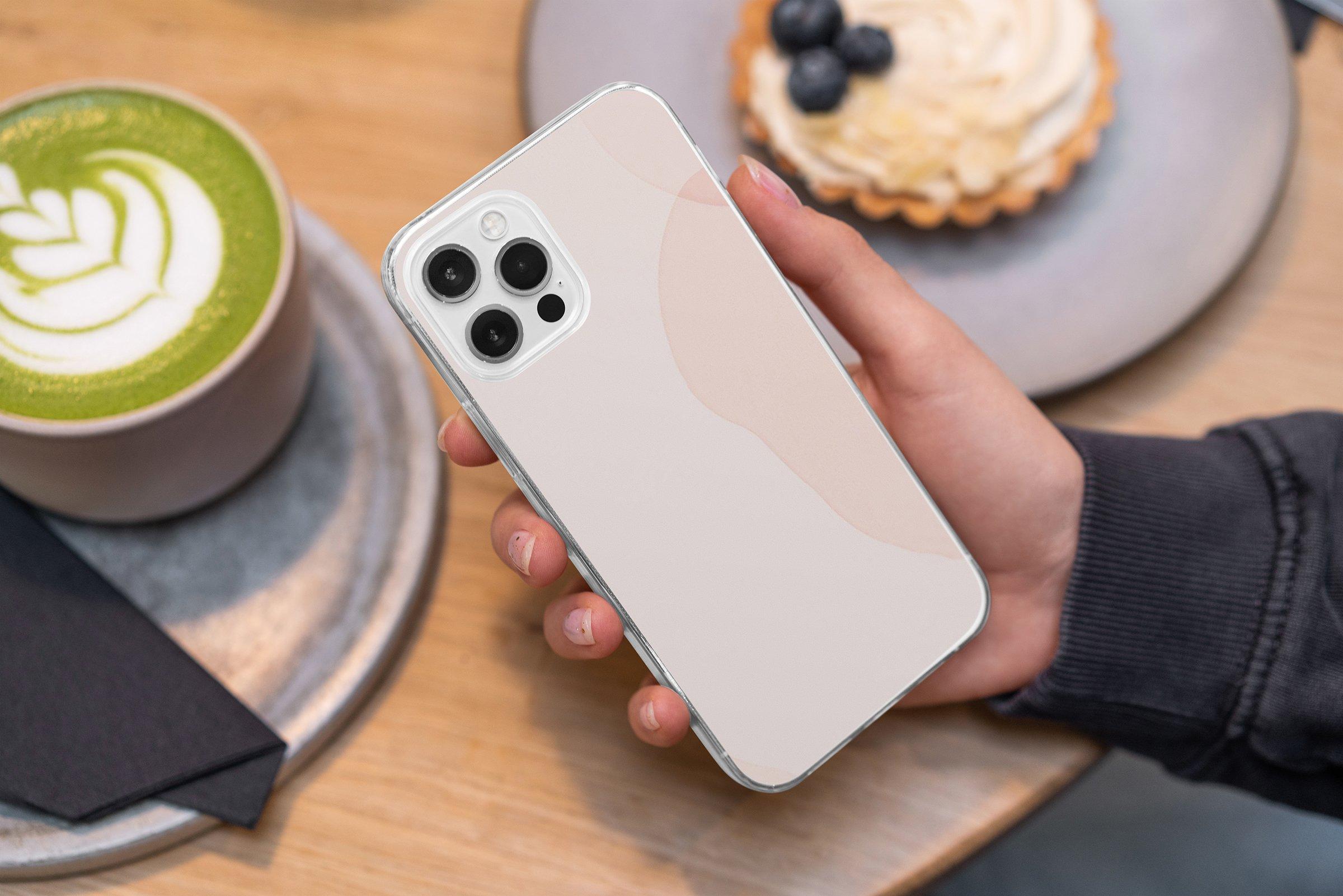 15款时尚苹果iPhone 12手机保护壳设计PS智能贴图样机模板 iPhone 12 Clear Case MockUp Vol.2插图10