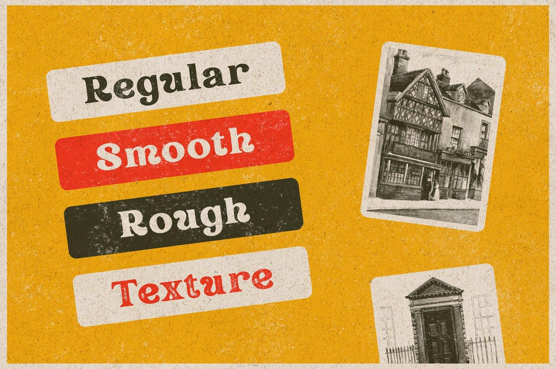 精美复古海报标题徽标Logo设计衬线英文字体素材 Rundeck – Vintage Texture Font插图6