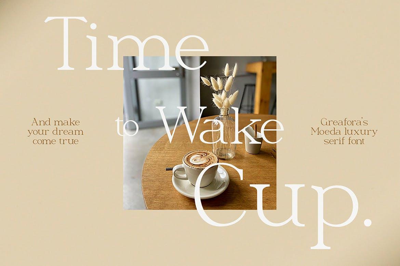 优雅轻奢现代时尚Logo杂志海报标题衬线英文字体素材 Moeda – Luxury Serif Font插图6