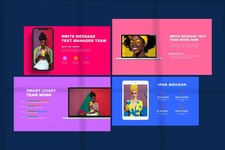 时尚炫彩品牌策划提案简报作品集设计PPT+Keynote模板 Millenia – Fashion PowerPoint Template插图1