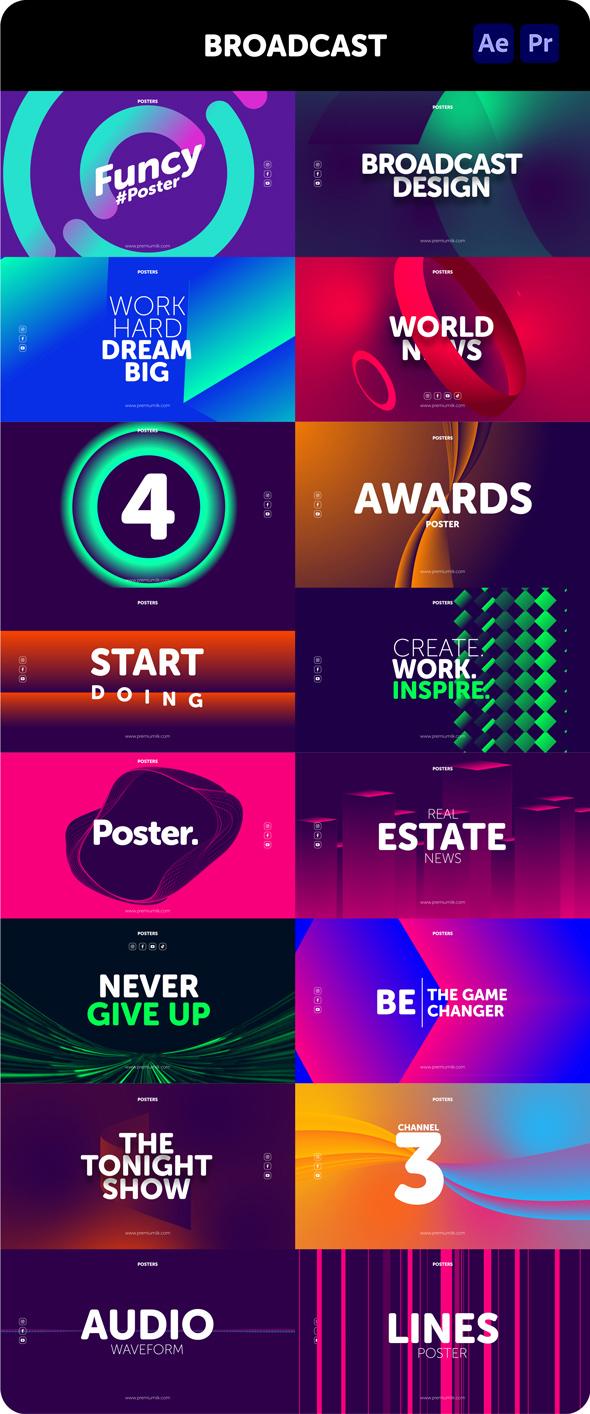 时尚潮流文字排版广告宣传海报包装动画预设AE+PR脚本素材 Videohive – Posters Pack V.7插图8