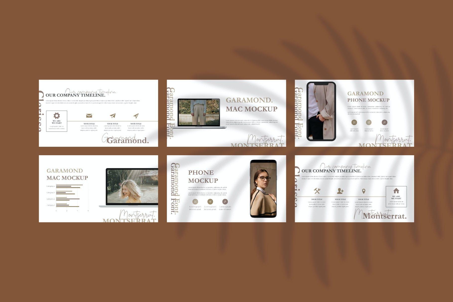 时尚简约摄影作品集图文排版幻灯片设计模板 Clarissa Bundle Presentation插图7