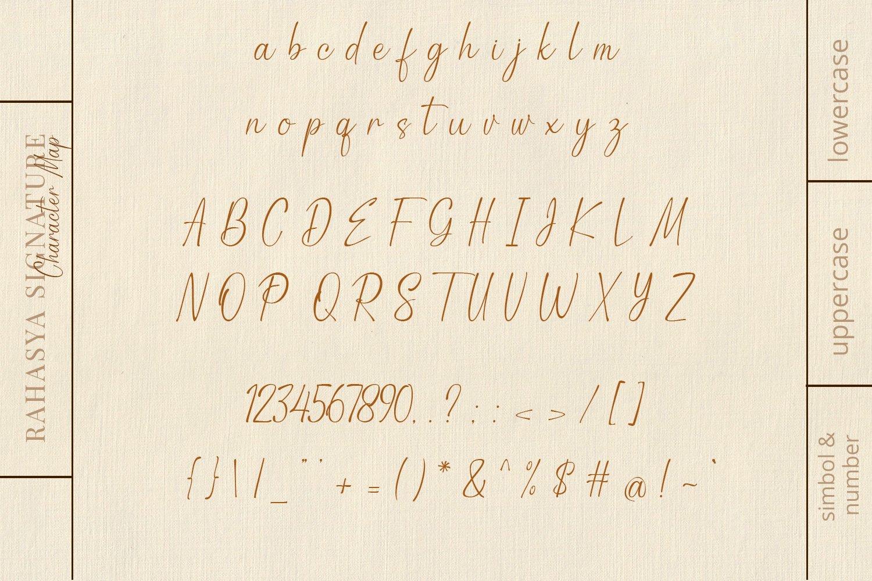 现代优雅品牌徽标Logo标题设计手写英文字体素材 Rahasya Signature Font插图7