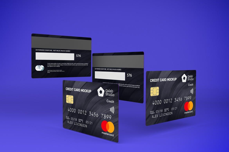 5款逼真银行信用卡卡片设计展示贴图样机素材 Credit Card V.1插图7