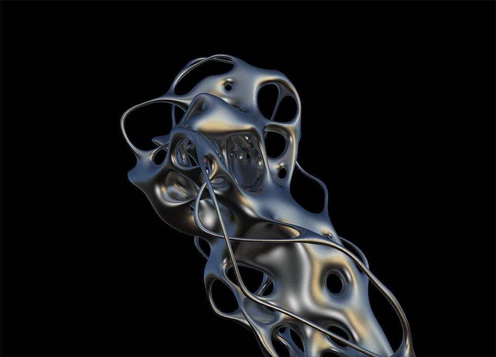 [单独购买] 50款潮流抽象金属镀铬有机形状PNG免扣图片设计素材 Edgargfx – Organic Chrome 3D插图6