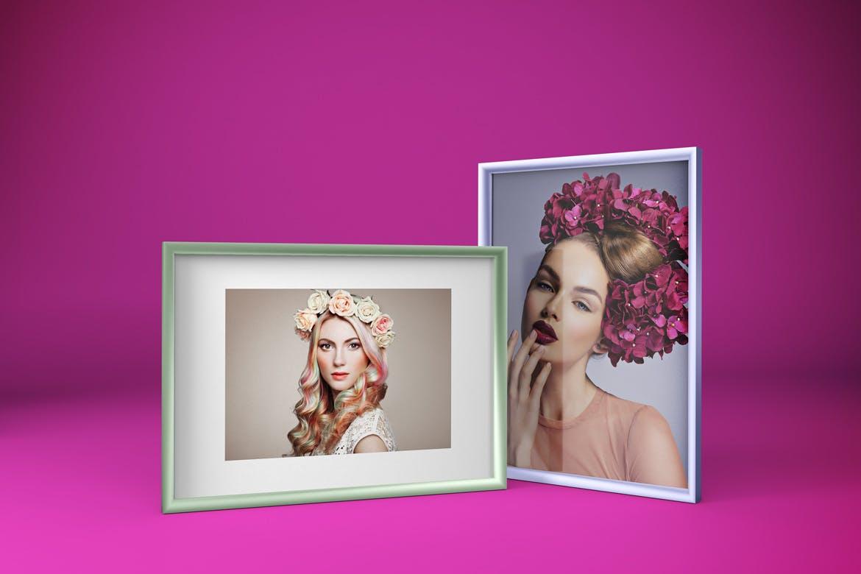 多角度艺术品相片展示相框样机模板 Frame Mockup插图7