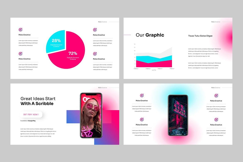 现代炫彩品牌营销策划提报幻灯片设计PPT+Keynote模板素材 PALOX – Creative Agency Powerpoint Template插图7