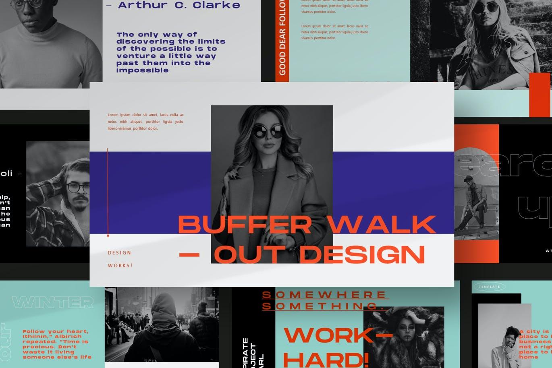 时尚摄影作品集幻灯片设计PPT模板素材 Bufalow Powerpoint Template插图7