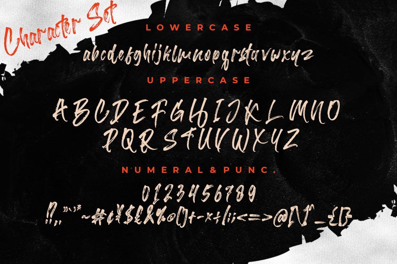 时尚复古品牌标题徽标Logo设计手写毛笔英文字体素材 Barttony Handbrush Typeface插图7