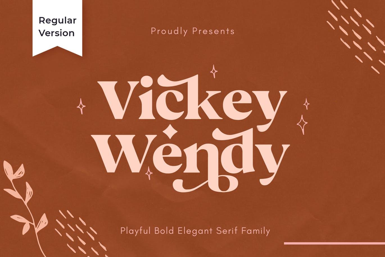 现代极简复古品牌Logo杂志海报标题设计衬线英文字体素材 Vicky Regular – Modern Vintage Typeface插图