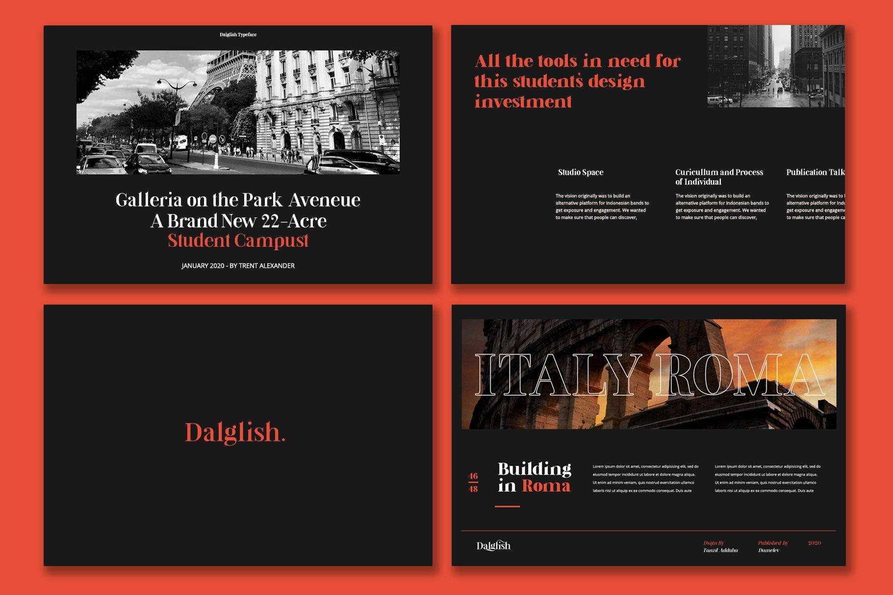 现代复古杂志海报标题徽标Logo设计衬线英文字体素材 Dalglish Typeface插图7
