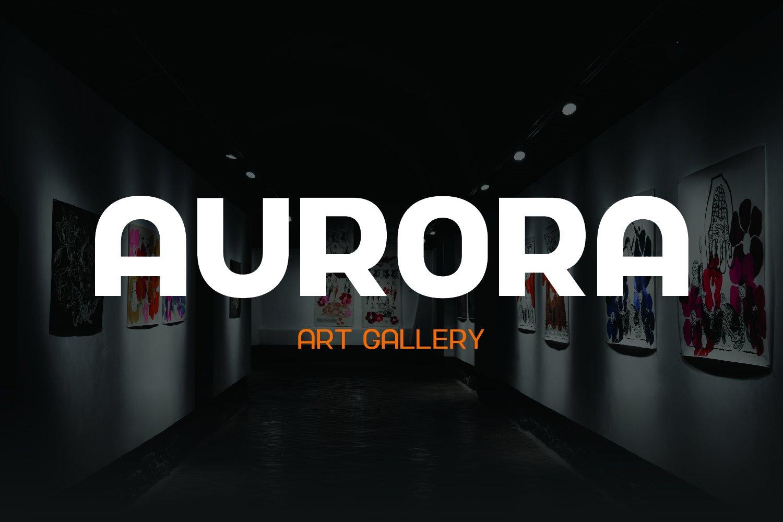现代简约杂志海报Logo标题无衬线英文字体设计素材 Nura – Variable Font插图8