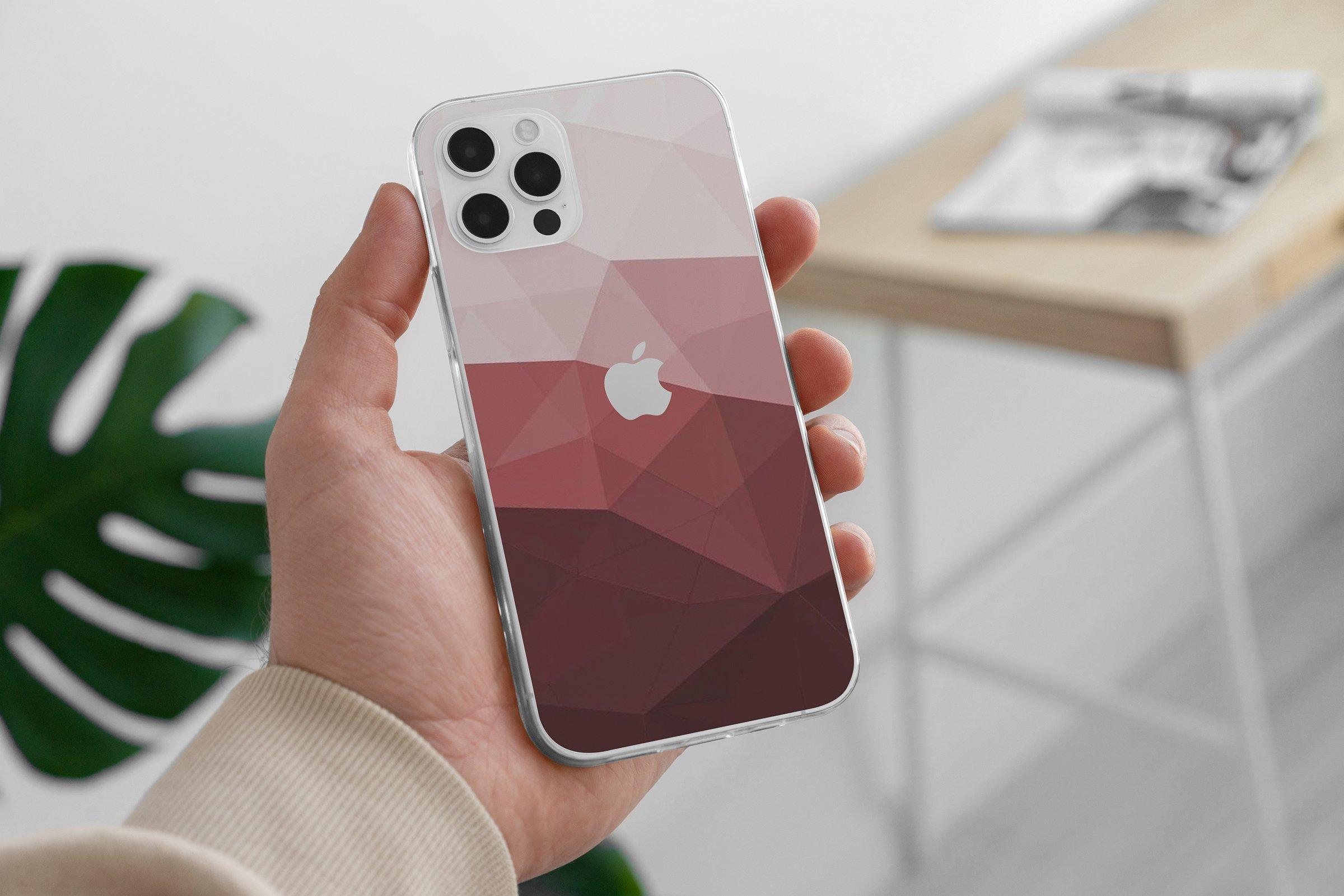 15款时尚苹果iPhone 12手机保护壳设计PS智能贴图样机模板 iPhone 12 Clear Case MockUp Vol.2插图2