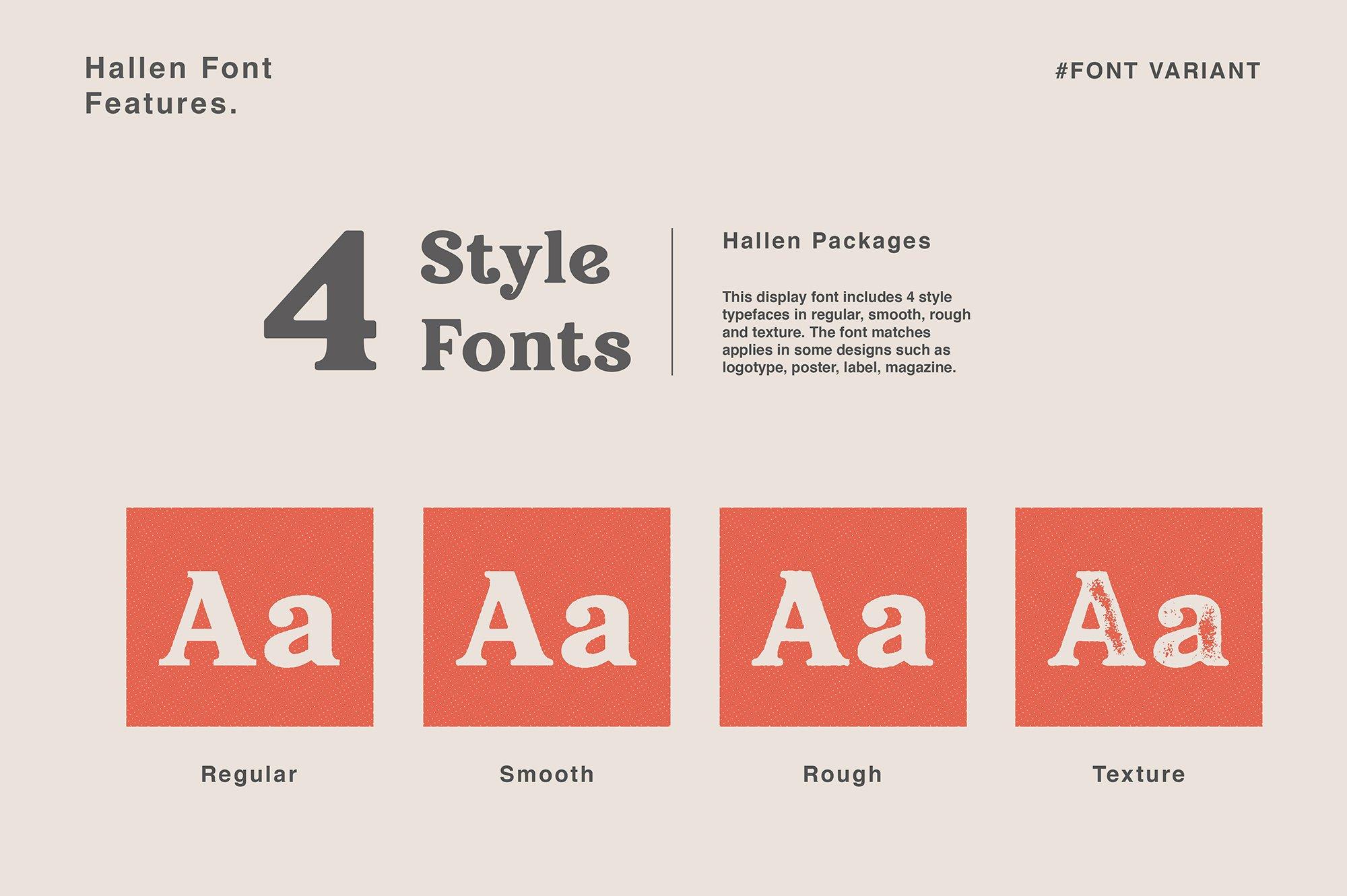 现代经典杂志海报标题Logo设计衬线英文字体下载 Hallen Font插图8