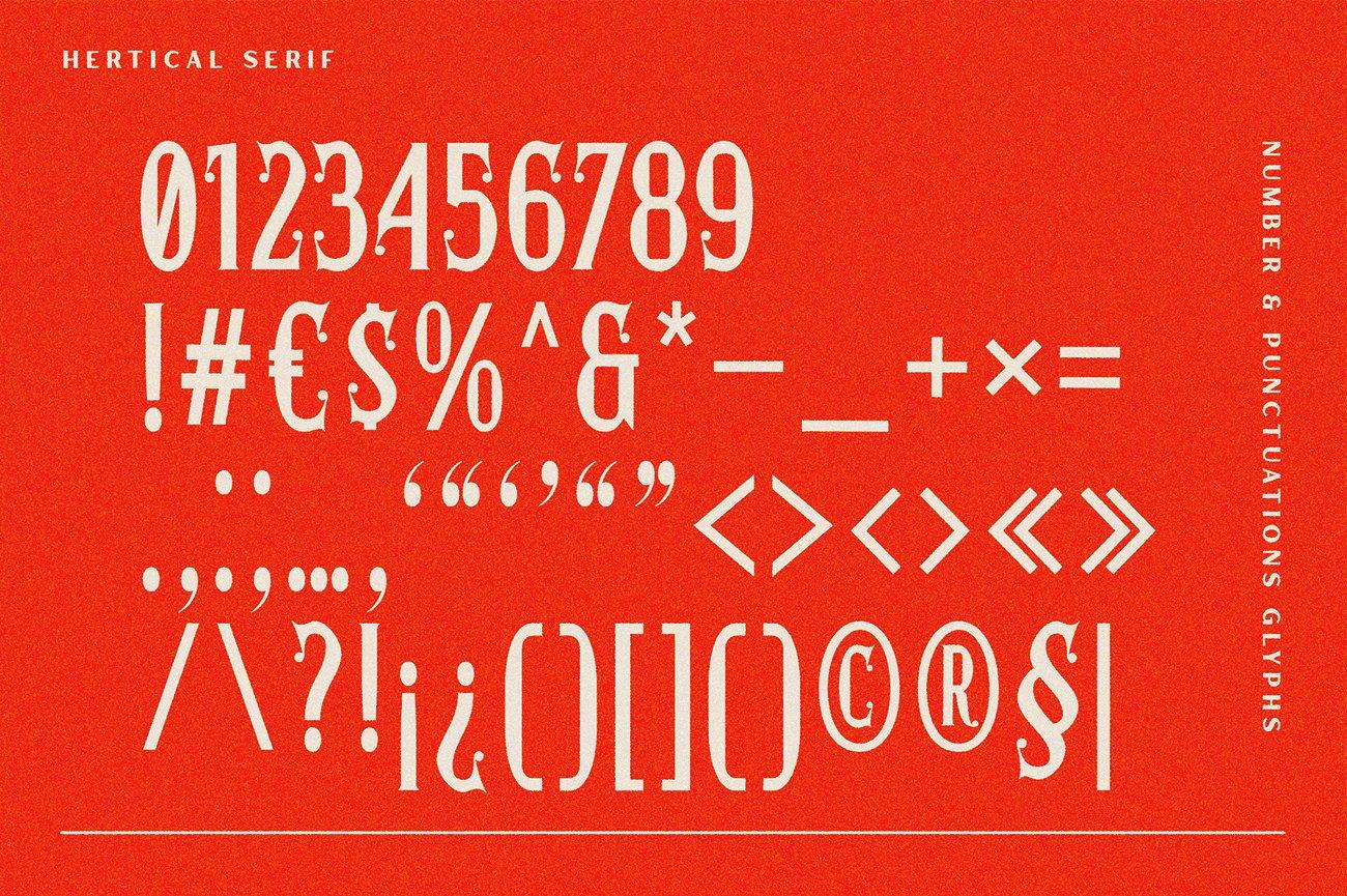 时尚复古标题徽标Logo衬线英文字体下载 Hertical Font插图8