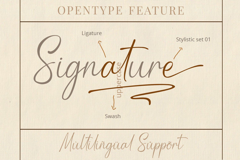 现代优雅品牌徽标Logo标题设计手写英文字体素材 Rahasya Signature Font插图8