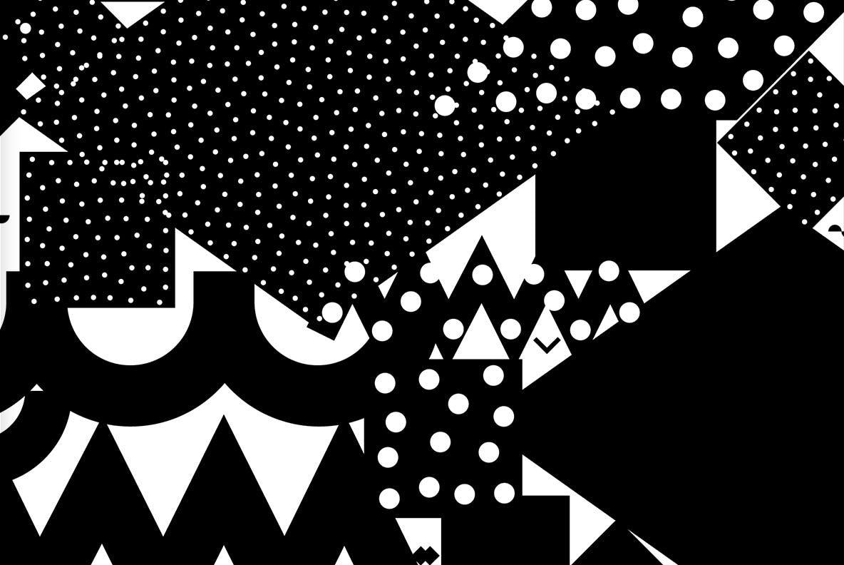 20个抽象几何拼贴矢量背景图片设计素材 Mono Contain – Background Patterns插图8