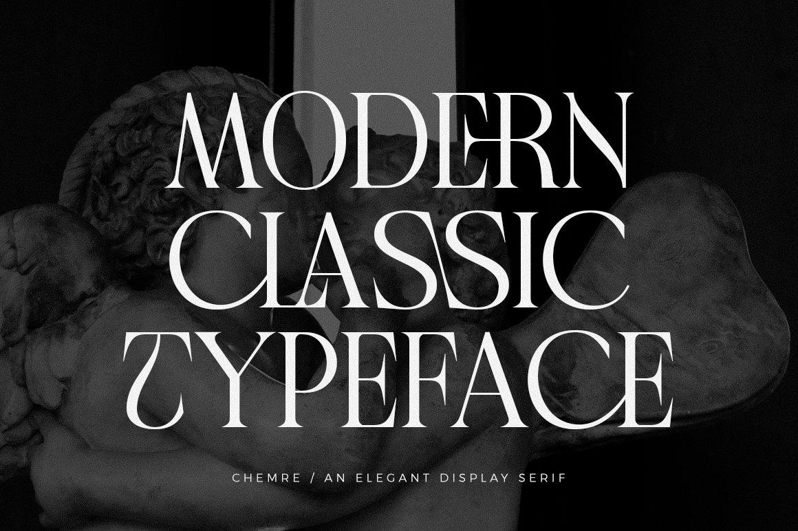 现代优雅品牌徽标Logo海报标题设计衬线英文字体素材 Chemre Font插图8