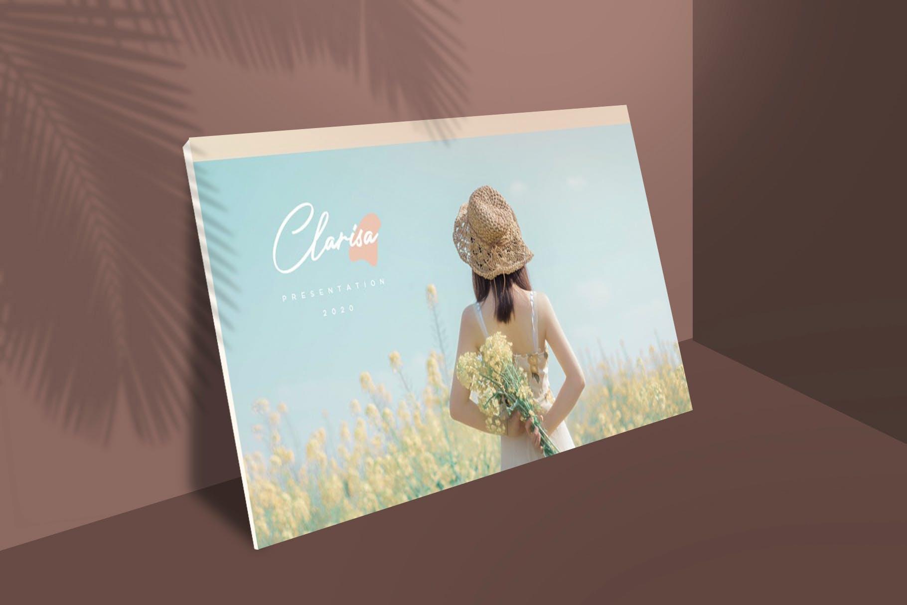 时尚优雅摄影作品集演示幻灯片设计模板 Clarisa Bundle Presentation插图8