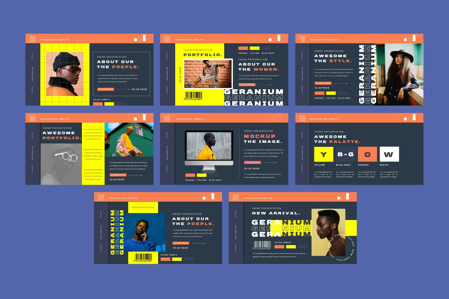潮流品牌营销提案简报作品集设计模板 GERANIUM Powerpoint Template插图8