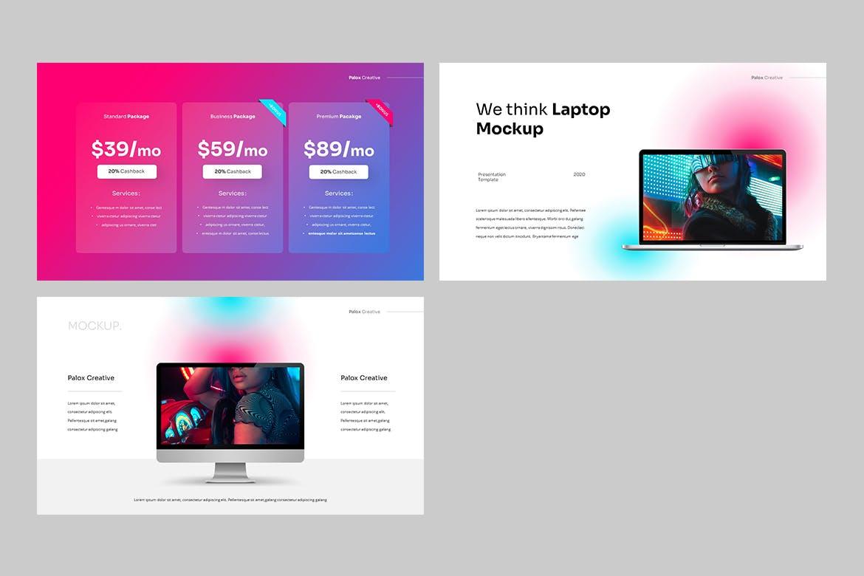 现代炫彩品牌营销策划提报幻灯片设计PPT+Keynote模板素材 PALOX – Creative Agency Powerpoint Template插图8
