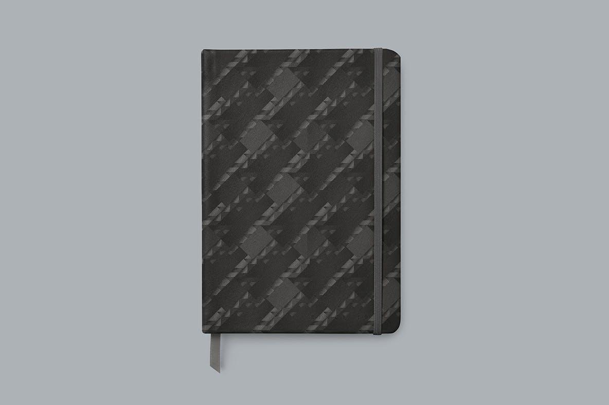 现代暗黑噪点颗粒渐变几何图形无缝隙背景图设计素材 Cubic Dark Patterns插图10
