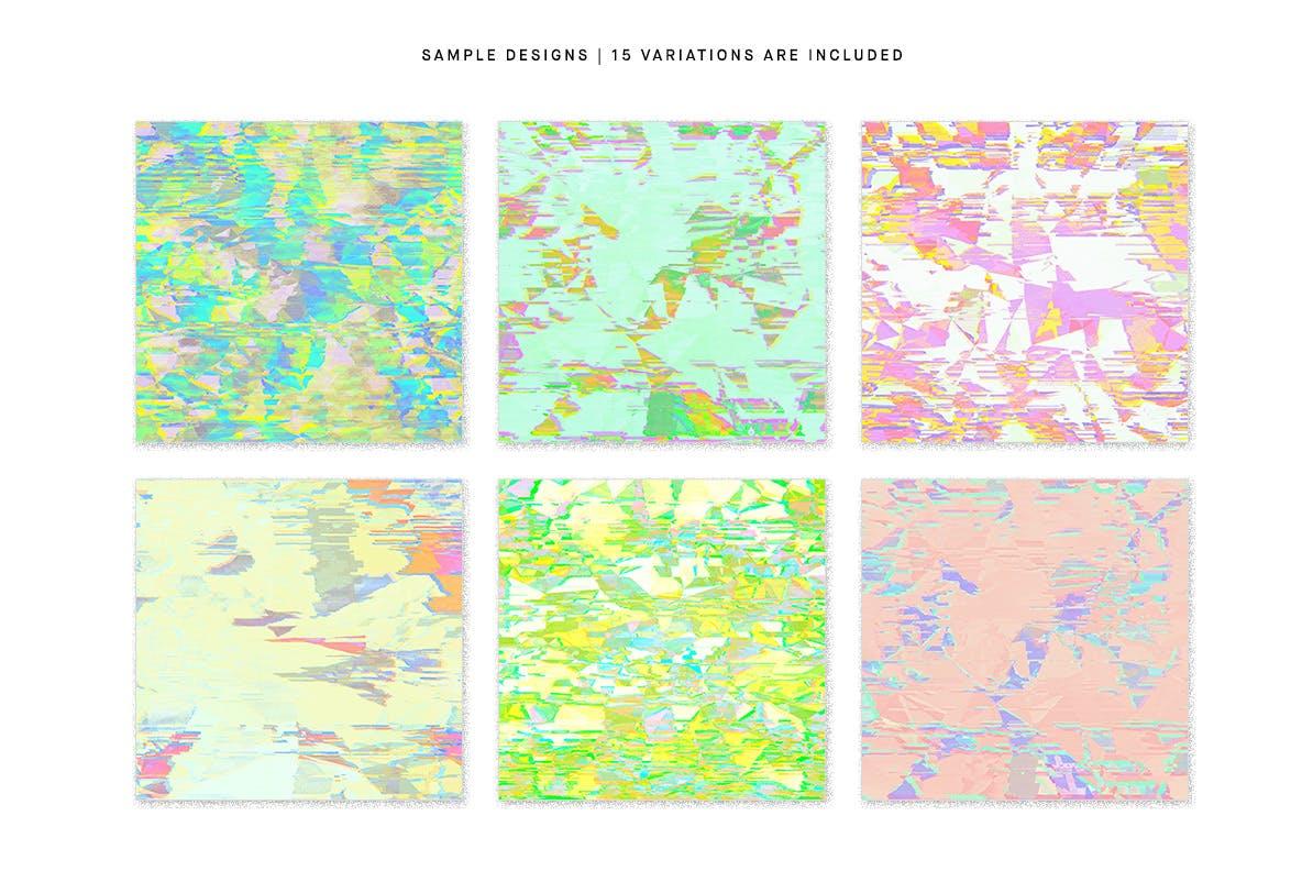 15款抽象故障失真纹理海报设计背景图片素材 Pastel Noise插图8