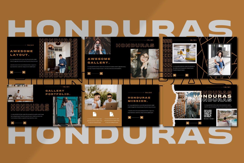 潮流撕纸效果品牌营销设计提案简报演示文稿模板素材 HONDURAS Bundle Presentation Template插图8