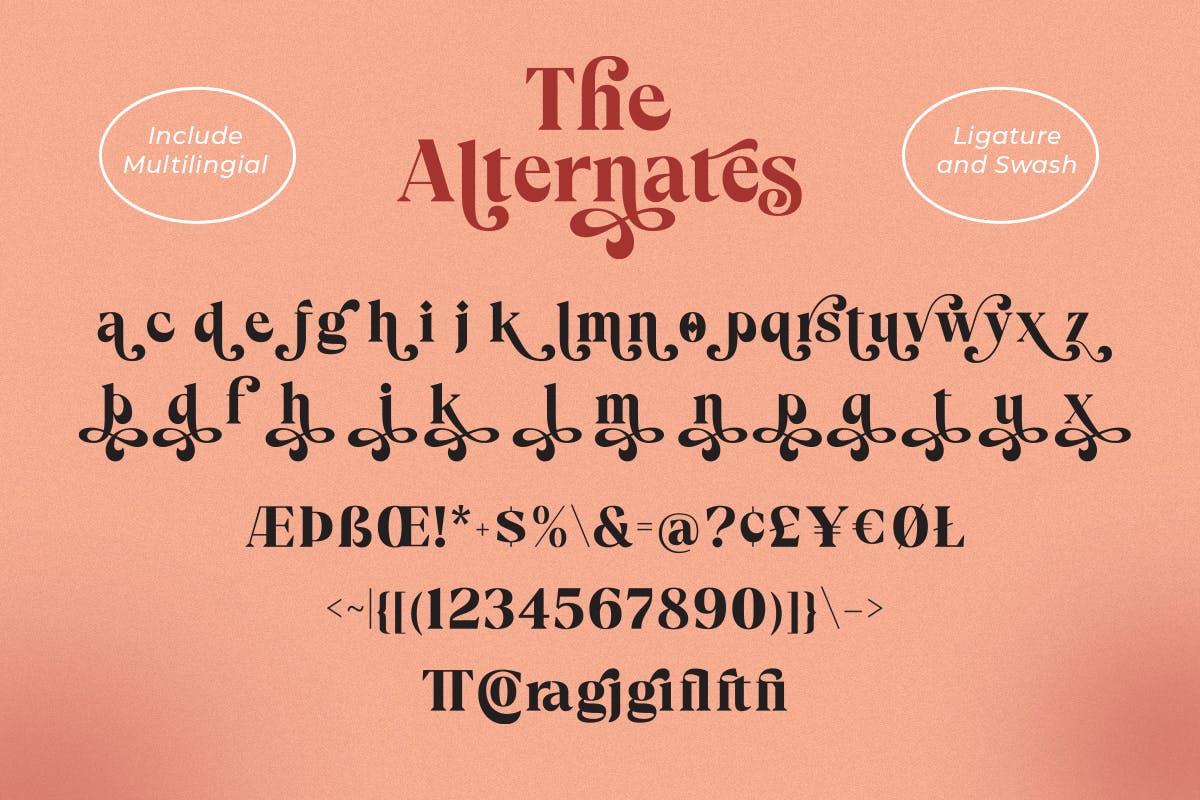 现代优雅海报标题徽标Logo设计衬线英文字体素材 Cadfille – Serif Display Font插图8