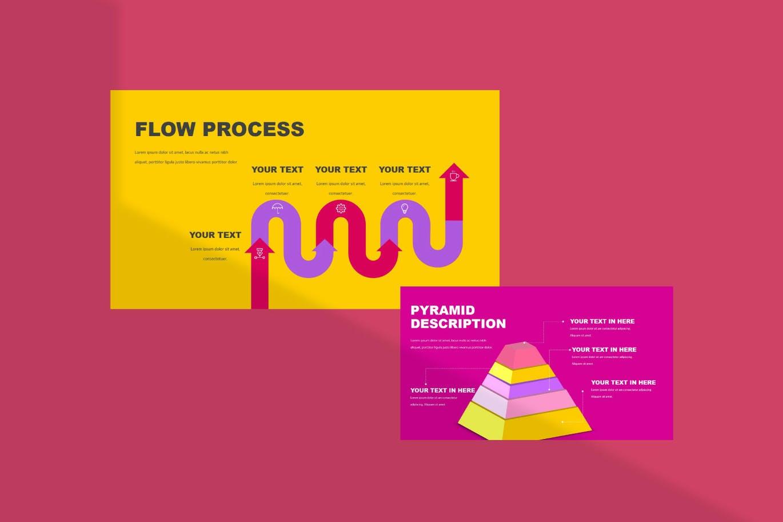 时尚炫彩品牌策划提案简报作品集设计PPT+Keynote模板 Millenia – Fashion PowerPoint Template插图2