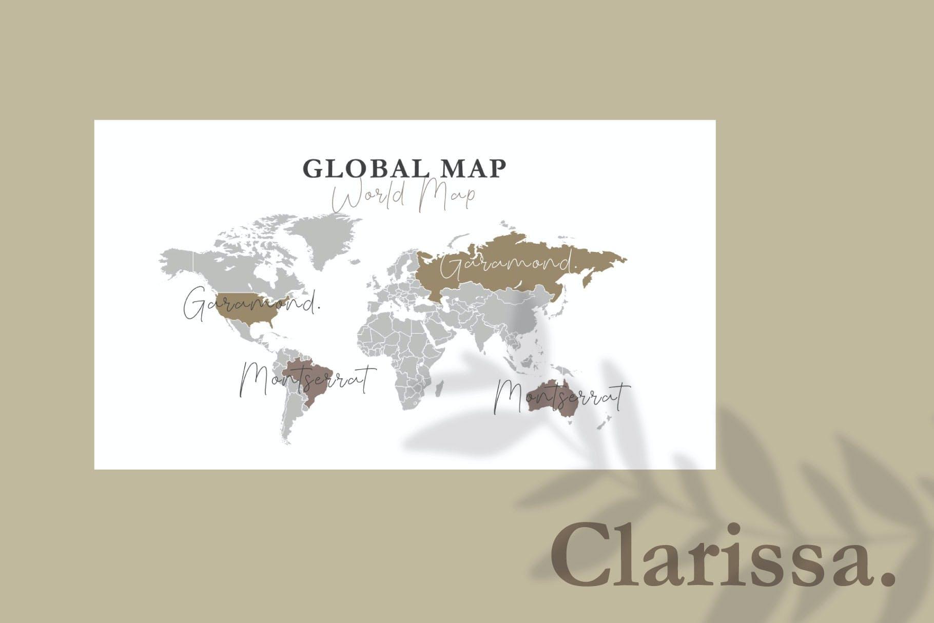 时尚简约摄影作品集图文排版幻灯片设计模板 Clarissa Bundle Presentation插图8