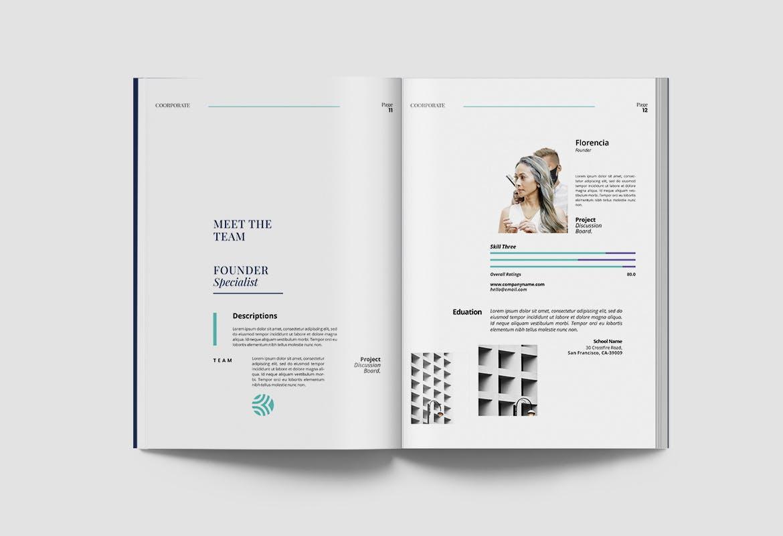 现代优雅企业年度报告书设计INDD画册模板 Corporate Report插图6