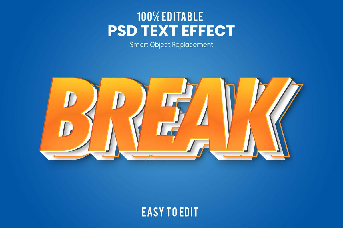 [单独购买] 80款炫彩3D立体海报标题Logo特效字体设计PS样机素材 30 Text Effect Bundle插图13