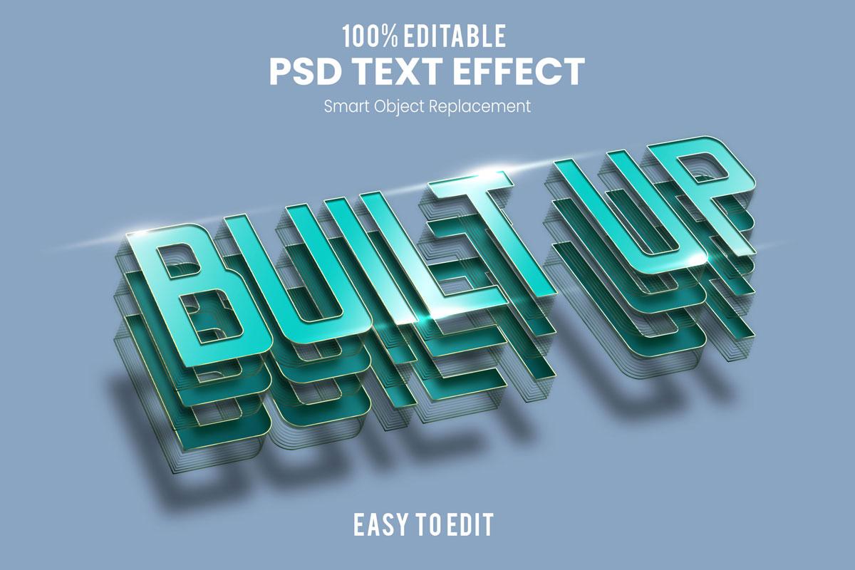 [单独购买] 80款炫彩3D立体海报标题Logo特效字体设计PS样机素材 30 Text Effect Bundle插图14