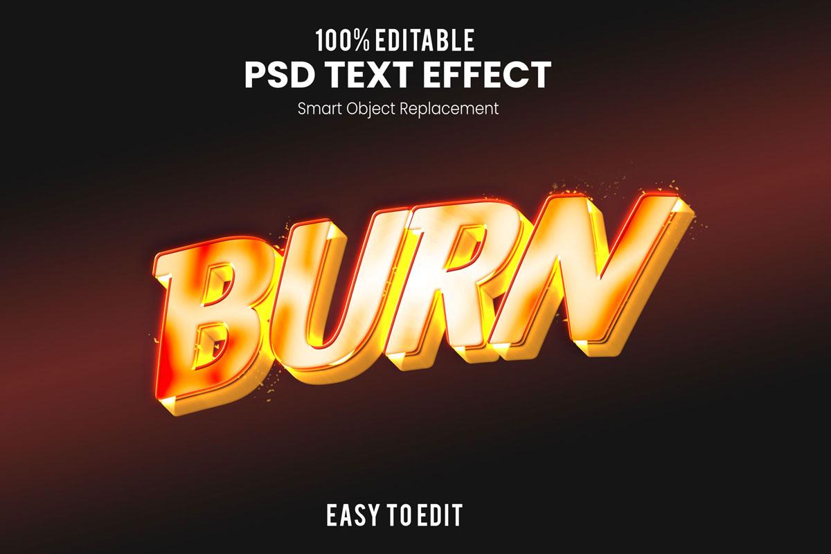 [单独购买] 80款炫彩3D立体海报标题Logo特效字体设计PS样机素材 30 Text Effect Bundle插图15